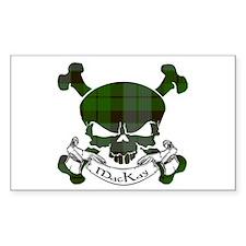 MacKay Tartan Skull Decal