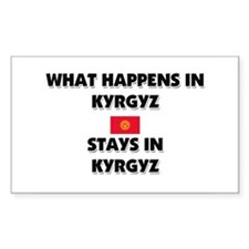 What Happens In KYRGYZ Stays There Decal