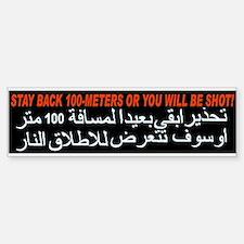 Get Back or Get Shot! Bumper Bumper Bumper Sticker
