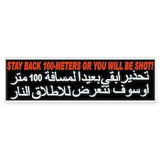 Get Back or Get Shot! Bumper Bumper Sticker