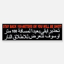Get Back or Get Shot! Bumper Car Car Sticker