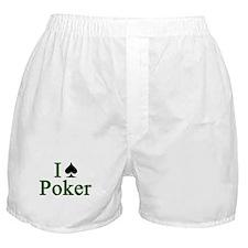 Card Player I Love (spade) Poker Boxer Shorts