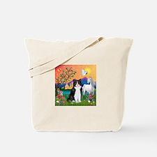 FantasyLand/B&W Cat Tote Bag