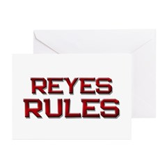 reyes rules Greeting Cards (Pk of 20)