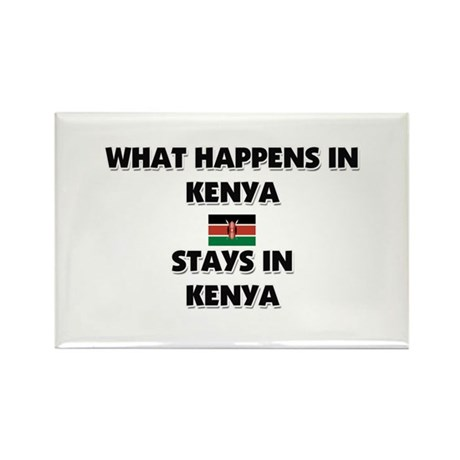 What Happens In KENYA Stays There Rectangle Magnet