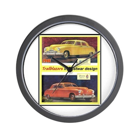 """1946 Kaiser-Frazer Ad"" Wall Clock"