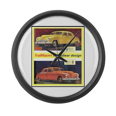 """1946 Kaiser-Frazer Ad"" Large Wall Clock"