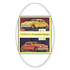 """""""1946 Kaiser-Frazer Ad"""" Oval Decal"""