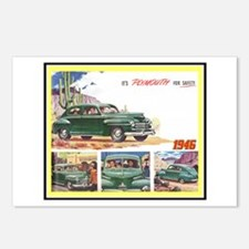 """""""1946 Plymouth Ad"""" Postcards (Package of 8)"""