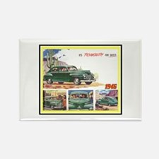 """1946 Plymouth Ad"" Rectangle Magnet"