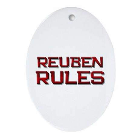 reuben rules Oval Ornament