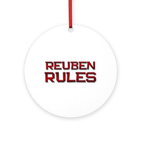 reuben rules Ornament (Round)