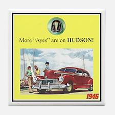 """1946 Pontiac Ad"" Tile Coaster"