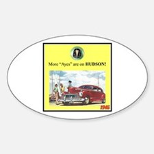 """1946 Pontiac Ad"" Oval Decal"