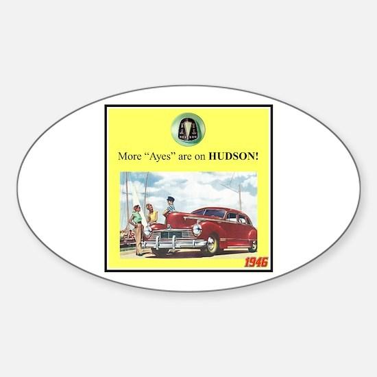 """1946 Pontiac Ad"" Oval Decal"