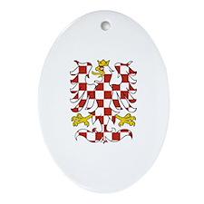 Moravian Eagle Oval Ornament