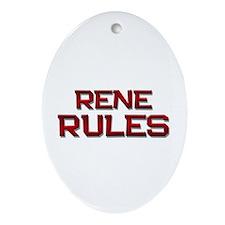 rene rules Oval Ornament