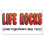 Life Rocks Rectangle Sticker