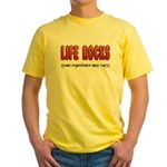 Life Rocks Yellow T-Shirt