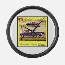 """1946 Chrysler Ad"" Large Wall Clock"