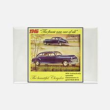 """""""1946 Chrysler Ad"""" Rectangle Magnet"""