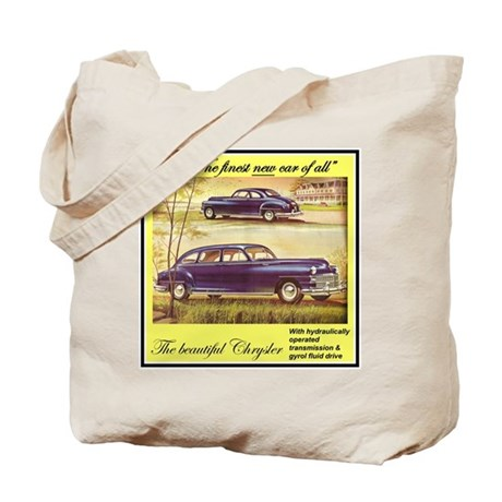 """1946 Chrysler Ad"" Tote Bag"