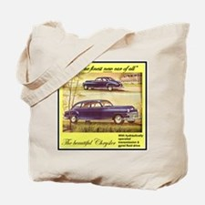 """1946 Chrysler Ad"" Tote Bag"