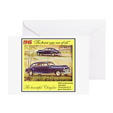 """1946 Chrysler Ad"" Greeting Card"