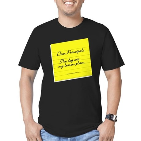 Lesson Plan Men's Fitted T-Shirt (dark)