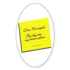 Lesson Plan Oval Decal