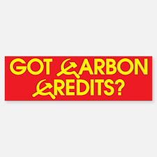 Got Carbon Credits? Bumper Bumper Bumper Sticker