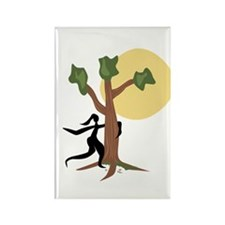 Tree Hugger Rectangle Magnet