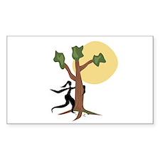 Tree Hugger Rectangle Sticker 10 pk)