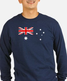 Australian Flag Long Sleeve T-Shirt