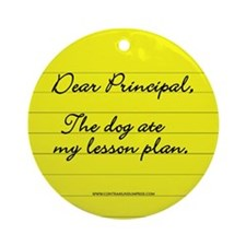 Lesson Plan Ornament (Round)