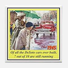 """1945 DeSoto Ad"" Tile Coaster"