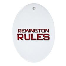remington rules Oval Ornament
