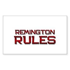 remington rules Rectangle Decal