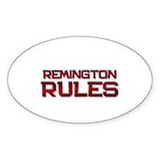 remington rules Oval Decal