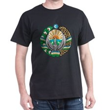 Uzbekistan Coat Of Arms Black T-Shirt