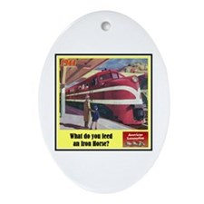 """""""The Iron Horse"""" Oval Ornament"""