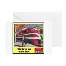 """""""The Iron Horse"""" Greeting Card"""