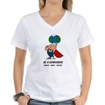 Earth Day Superhero Women's V-Neck T-Shirt