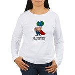 Earth Day Superhero Women's Long Sleeve T-Shirt