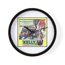 """""""1944 Kelly Tire Ad"""" Wall Clock"""
