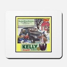 """1944 Kelly Tire Ad"" Mousepad"