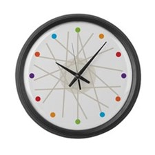 Haywire (multi-color) Large Wall Clock