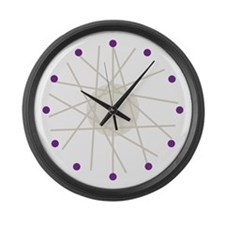 Haywire (purple) Large Wall Clock