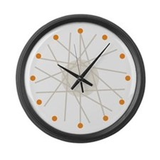 Haywire (orange) Large Wall Clock