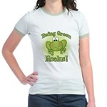 Being Green Rocks Jr. Ringer T-Shirt